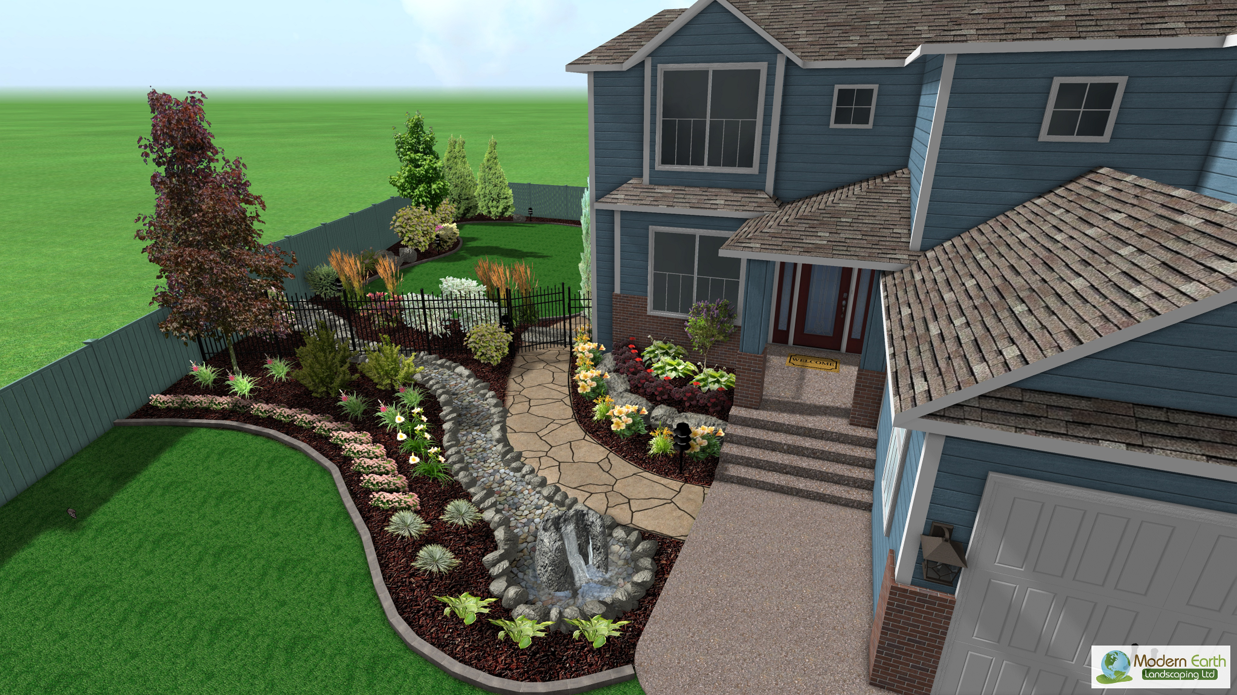3d landscape design for Home design 3d outdoor garden full